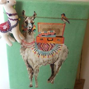 HOST PICK Llama canvas painting